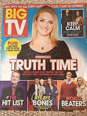 BIG TV Magazine 01/2017 NICOLA WHEELER Emmerdale David Boreanaz Emily Deschanel