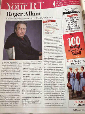 RADIO TIMES Magazine January 2016 BOY GEORGE PHOTO INTERVIEW ROGER ALLAM