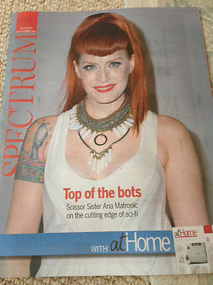 Scissor Sisters ANA MATRONIC PHOTO INTERVIEW SPECTRUM MAGAZINE AUGUST 2015