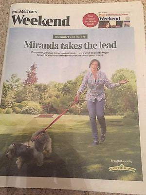 MIRANDA HART PHOTO COVER INTERVIEW TIMES WEEKEND DECEMBER 2016