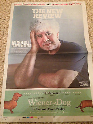 Observer New Review Aug 2016 - PEDRO ALMODOVAR UK photo interview BILLIE PIPER