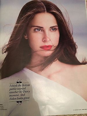 Poldark HEIDA REED on AIDAN TURNER NEW SERIES PHOTOS UK YOU MAGAZINE AUG 2016
