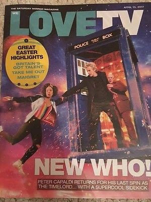 (UK) WE LOVE TV MAGAZINE APRIL 2017 PETER CAPALDI DR WHO JOHN SIMM DANIEL MAYS