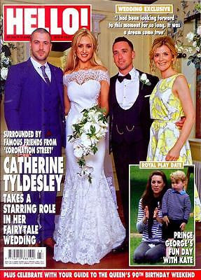HELLO! magazine - June 2016 CATHERINE TYLDESLEY Wedding Exclusive Prince George
