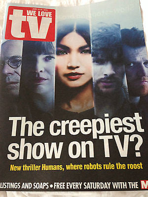 WE LOVE TV Magazine June 2015 HUMANS GEMMA CHAN COLIN MORGAN PHOTO COVER