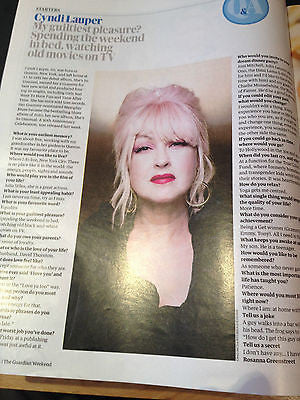 CYNDI LAUPER PHOTO INTERVIEW WEEKEND MAGAZINE APRIL 2014