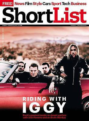(UK) SHORTLIST MAGAZINE IGGY POP PHOTO COVER INTERVIEW MARCH 2016 NEW