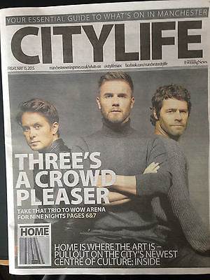 Take That Gary Barlow City Life Cover Clippings Manchester Concert UK Promo