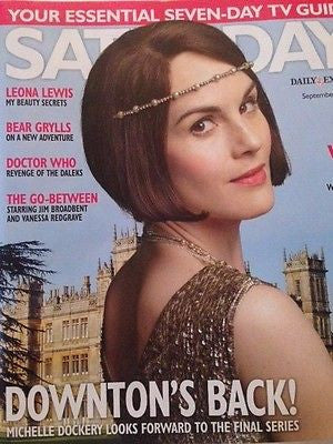 Downton Abbey MICHELLE DOCKERY UK MAGAZINE 2015 HELENA CHRISTENSEN PETER CAPALDI