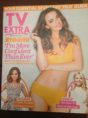 Hollyoaks JENNIFER METCALFE PHOTO COVER INTERVIEW EXTRA MAGAZINE APRIL 2016