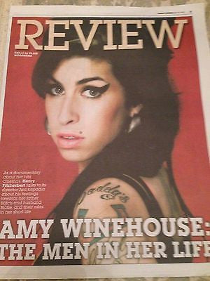 AMY WINEHOUSE PHOTO COVER EXPRESS REVIEW JUNE 2015 BRAND NEW