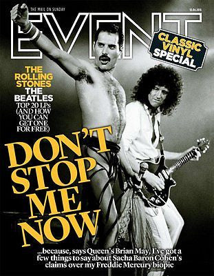 UK EVENT MAGAZINE APRIL 2016 BRIAN MAY QUEEN FREDDIE MERCURY THE ROLLING STONES