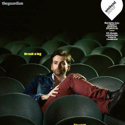 UK Guardian Weekend Magazine April 2017 David Tennant Cover