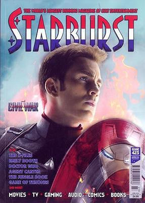 STARBURST MAGAZINE APRIL 2016 CAPTAIN AMERICA CIVIL WAR CHRIS EVANS PHOTO COVER