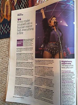 CHARLOTTE CHURCH Photo UK Guardian Festival Interview May 2017