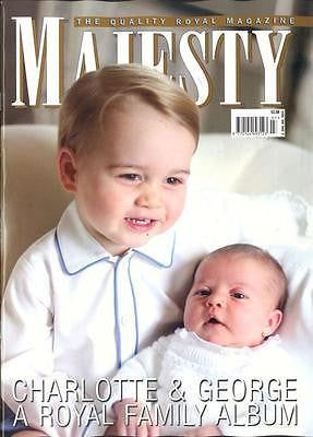 (UK) MAJESTY Magazine  ROYAL BABY PRINCESS CHARLOTTE & PRINCE GEORGE PHOTO COVER