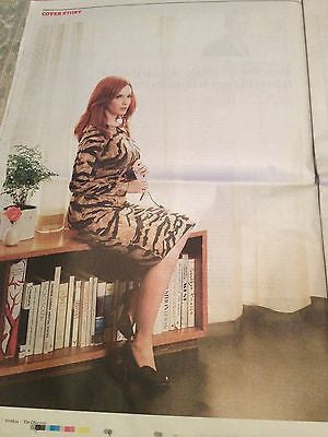 Mad Men CHRISTINA HENDRICKS PHOTO COVER INTERVIEW AUGUST 2014 GILLIAN ANDERSON