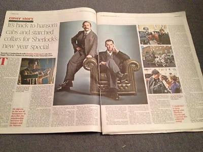 Sherlock BENEDICT CUMBERBATCH PHOTO COVER INTERVIEW TIMES DECEMBER 2015