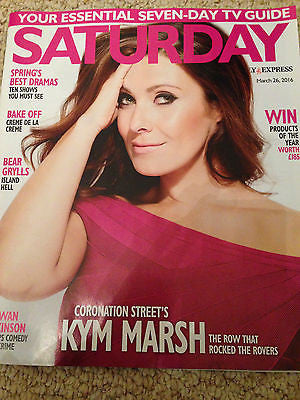 SATURDAY Magazine 03/2016 KYM MARSH John Leyton ROWAN ATKINSON Melinda Messenger