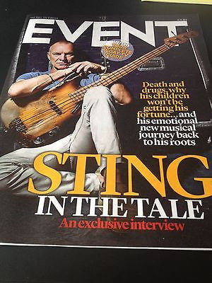 STING Exclusive Interview Dusty Springfield Jimmy Page EVENT Magazine June 2014