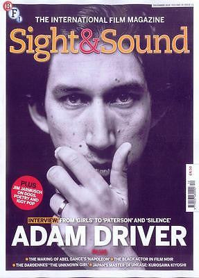 UK SIGHT & SOUND MAGAZINE DECEMBER 2016  ADAM DRIVER PHOTO COVER INTERVIEW
