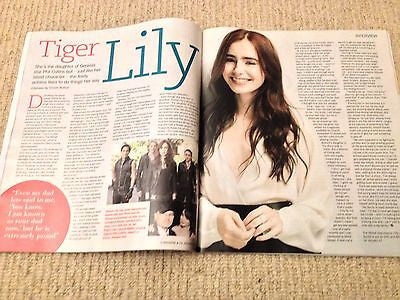 LILY COLLINS interview PHIL UK 1DAY ISSUE 2014 NEW Suzanne Vega Robert Downey Jr