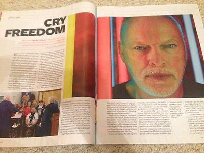 Pink Floyd DAVE GILMOUR PHOTO INTERVIEW INDEPENDENT MAGAZINE AUGUST 2015 NEW