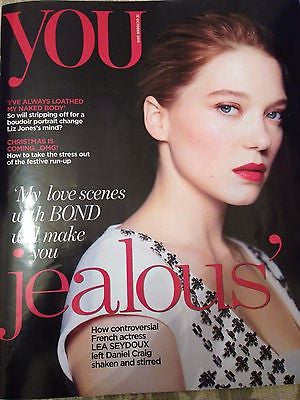 (UK) YOU MAGAZINE OCTOBER 2015 LEA SEYDOUX PHOTO INTERVIEW JAMES BOND SPECTRE