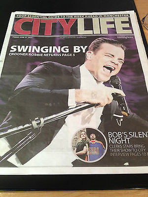 Robbie Williams Take That City Life Cover Clippings Concert UK Promo Kevin Smith