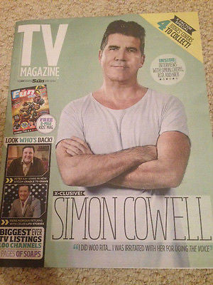 TV MAGAZINE 29 AUGUST 2015 SIMON COWELL CHERYL FERNANDEZ VERSINI JERRY HALL