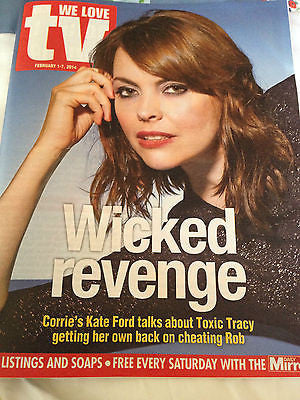 We Love TV Magazine Feb 2014 - Kate Ford Kylie Minogue Martin Shaw Peter Capaldi