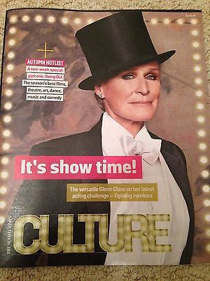 GLENN CLOSE John Le Carre Aidan Turner Die Antwoord UK Culture Magazine 09/2016