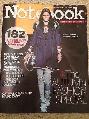 (UK) NOTEBOOK MAGAZINE SEPTEMBER 2016 KENDALL JENNER PHOTO COVER