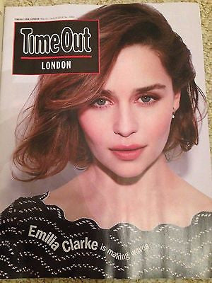 EMILIA CLARKE - RYAN GOSLING Time Out London UK magazine June 2016