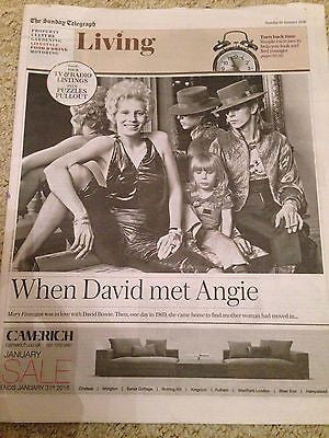 Angie DAVID BOWIE Mary Finnigan PHOTO COVER Interview UK Telegraph Living 2016