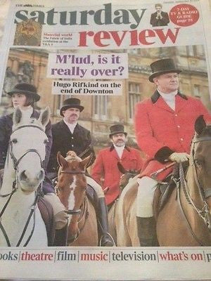 (UK) TIMES REVIEW SEPTEMBER 2015 DOWNTON ABBEY JOANNE FROGGATT MICHELLE DOCKERY