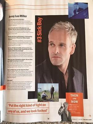 JONNY LEE MILLER - JAMES McAVOY Time Out London UK magazine January 2017