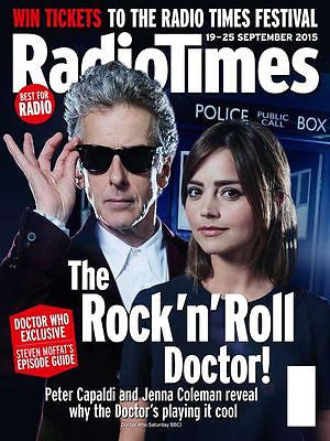 Doctor Who PETER CAPALDI PHOTO COVER RADIO TIMES MAGAZINE 19 SEPTEMBER 2015