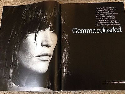 GEMMA ARTERTON PHOTO COVER INTERVIEW UK OBSERVER MAGAZINE 09/2016 DAVID SHRIGLEY