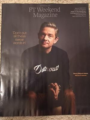 MARTIN FREEMAN Cover interview SHERLOCK UK FT Weekend Magazine 24 December 2016