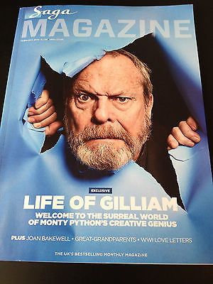 Saga Magazine February 2014 - Terry Gilliam Shirley Anne Field  Martin Clunes
