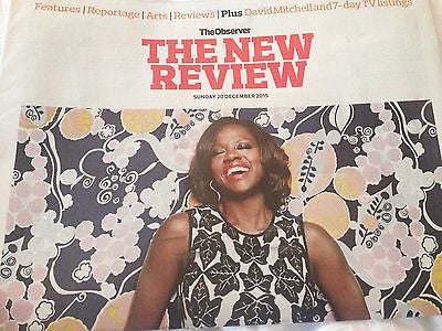 UK OBSERVER REVIEW 12/2015 VIOLA DAVIS FLORENCE WELCH NICOLA WALKER Pilou Asbaek