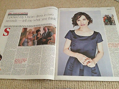 Times Saturday Review 1 March 2014 SALLY HAWKINS Emilia Clarke Lamb of God
