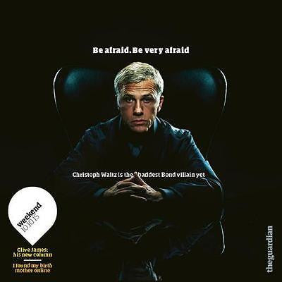 (UK) GUARDIAN MAGAZINE OCT 10 2015 CHRISTOPH WALTZ JAMES BOND PHOTO INTERVIEW