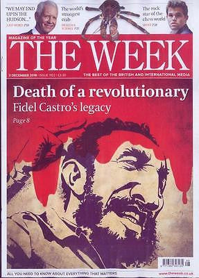 FIDEL CASTRO - DEATH OF A REVOLUTIONARY - UK THE WEEK MAGAZINE DECEMBER 3 2016
