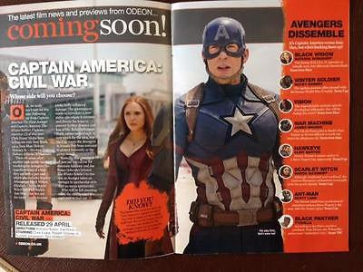 ODEON Magazine March 2016 CHRIS EVANS CAPTAIN AMERICA THEO JAME ALLEGIANT