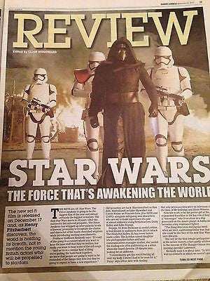 STAR WARS THE FORCE AWAKENS PHOTO COVER EXPRESS REVIEW NOVEMBER 2015