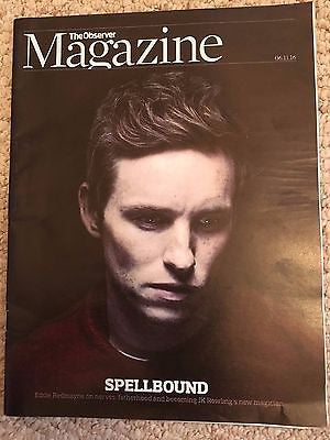 FANTASTIC BEASTS - EDDIE REDMAYNE Observer UK magazine Nov 2016 Carrie Anne Moss