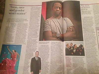 ADRIAN LESTER interview KENNETH BRANAGH martin parr UK 1 DAY ISSUE 2016