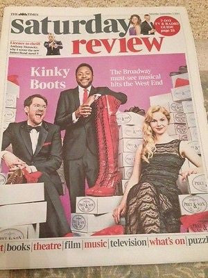 (UK) TIMES REVIEW SEPT 2015 CYNDI LAUPER PHOTO INTERVIEW KINKY BOOTS JAMES BOND